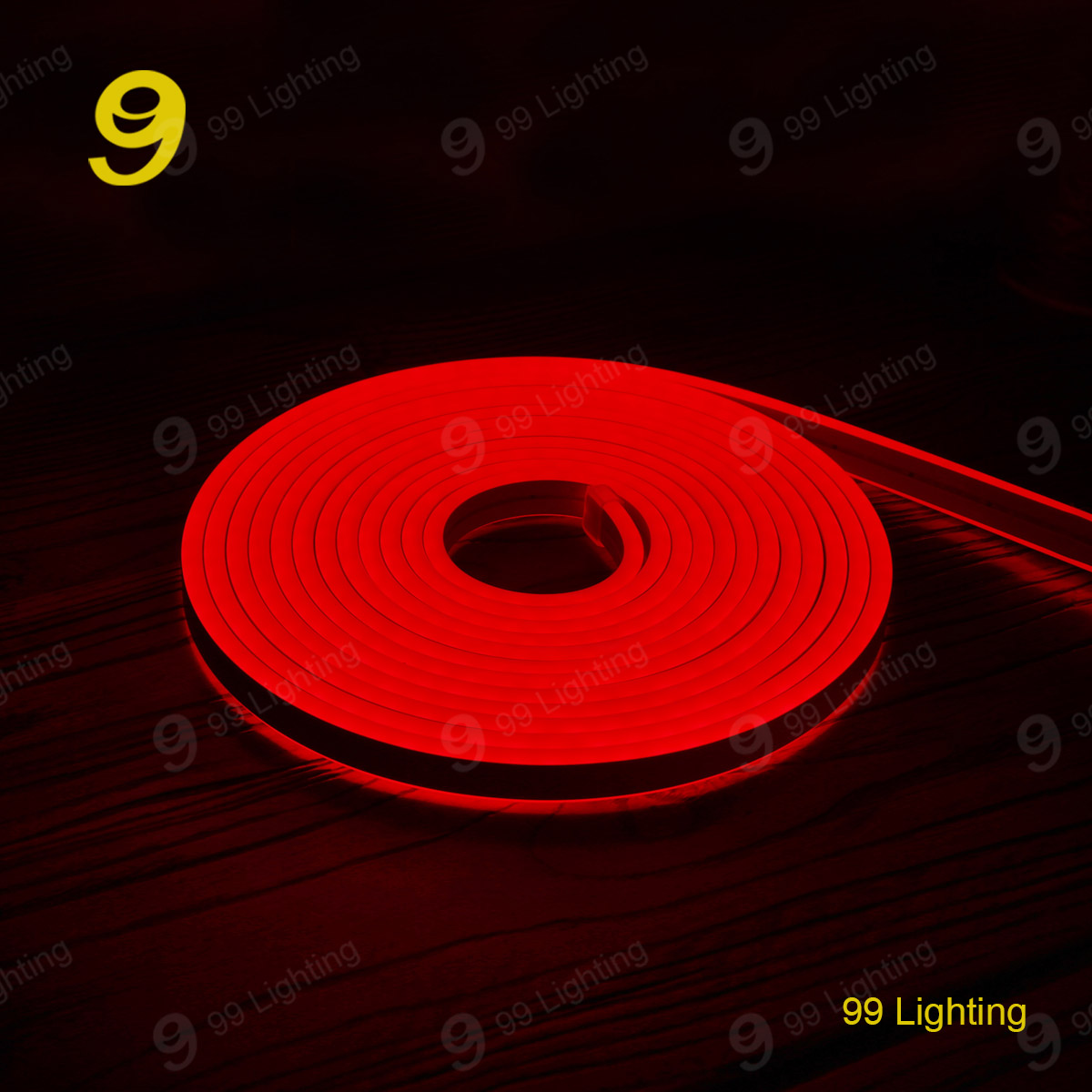 Red color 12v silicon neon flex light waterproof IP68 for outdoor