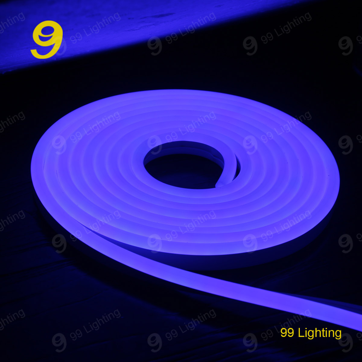 Blue color silicone neon flex rope light waterproof IP68