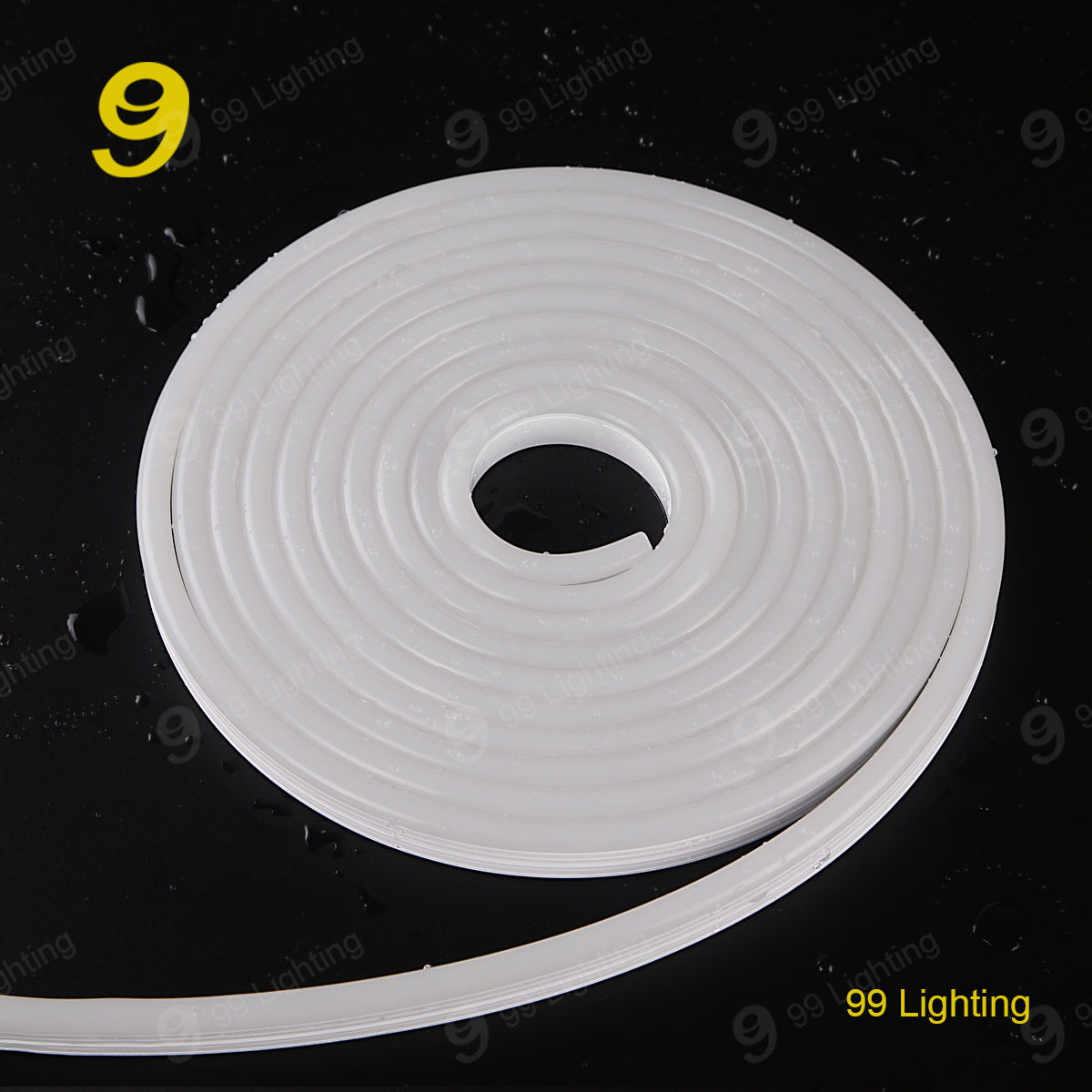 white color 12v silicon neon light waterproof IP68